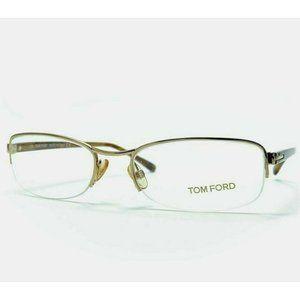Tom Ford Women Eyeglasses Gold Frame Demo Lens